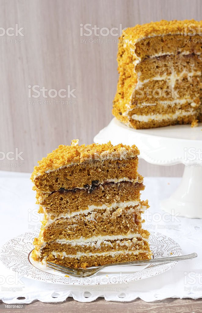 pumpkin and orange layered cake royalty-free stock photo