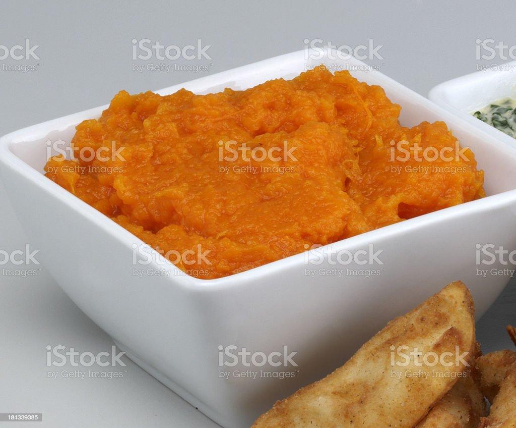 Pumpkin and potato stock photo