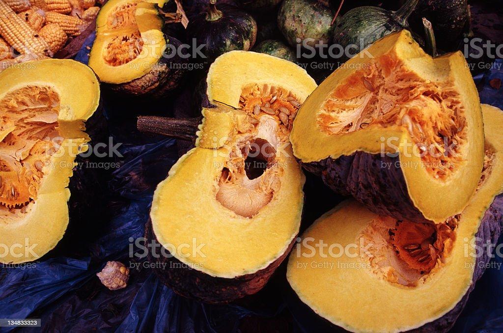 Pumpkin at Vegetable Market royalty-free stock photo