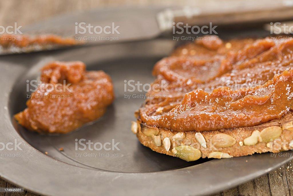 Pumpkin Butter On Toast royalty-free stock photo