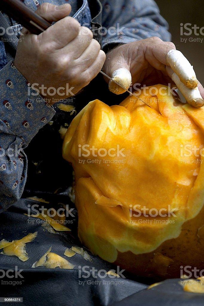 Pumpkin Carver royalty-free stock photo