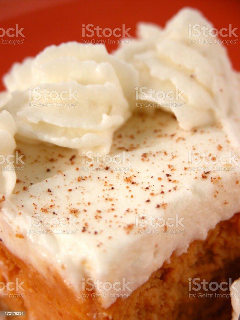 Pumpkin Cheesecake royalty-free stock photo
