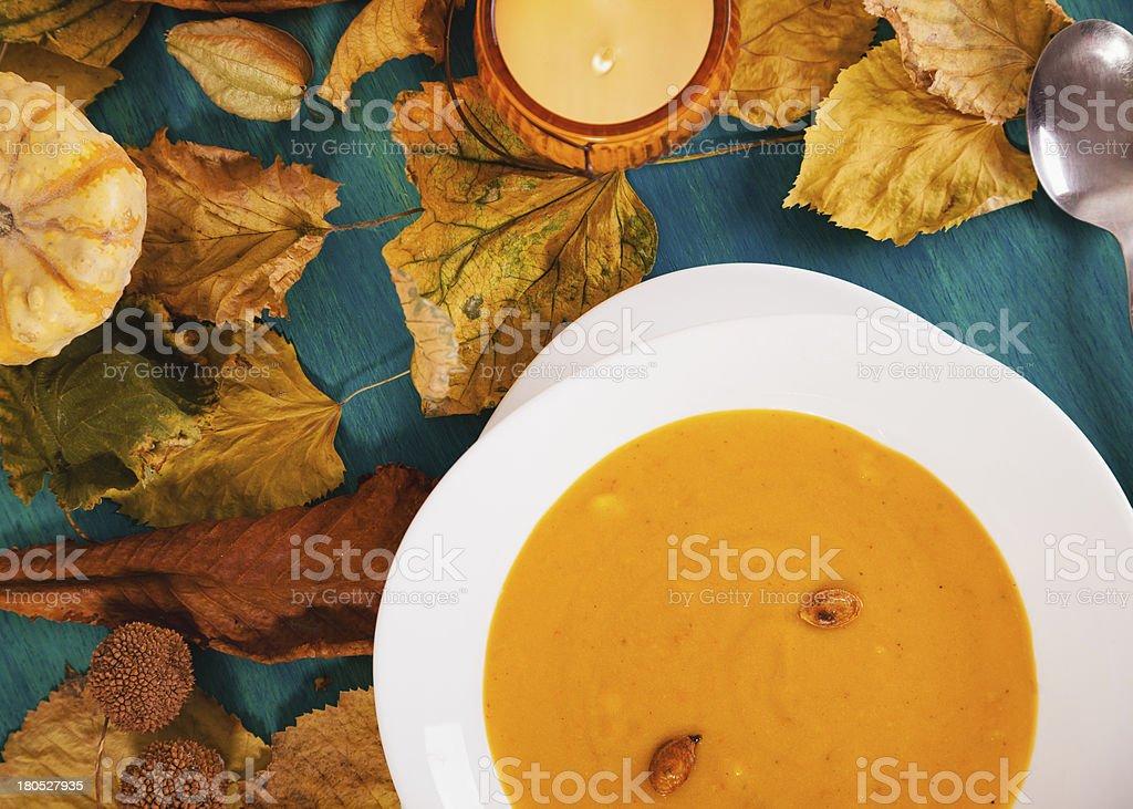 Pumpkin creme soup royalty-free stock photo