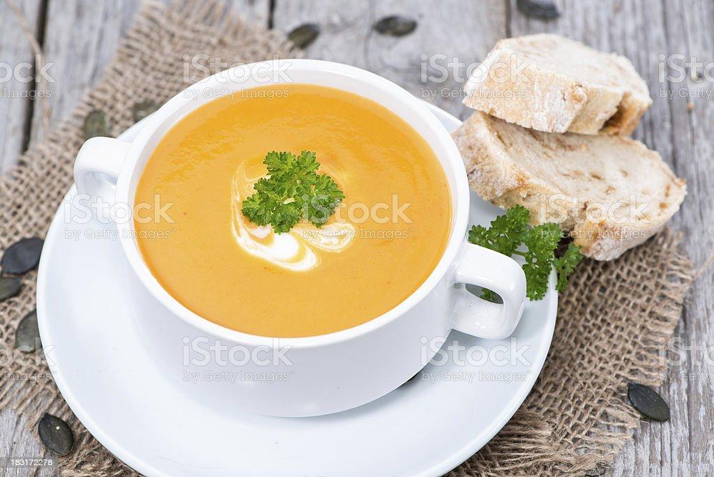 Pumpkin Creme Soup stock photo