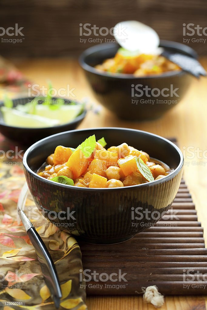 Pumpkin curry royalty-free stock photo