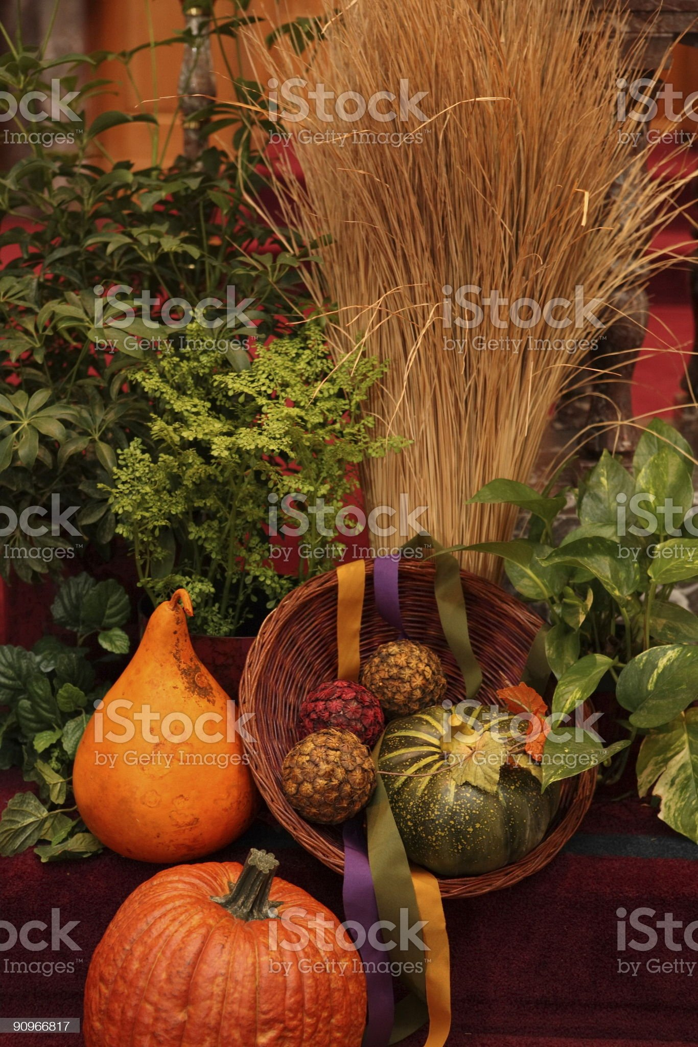 pumpkin decoration royalty-free stock photo