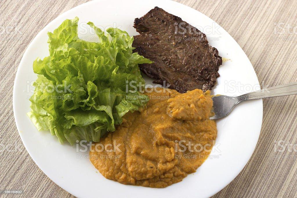 Pumpkin dinner royalty-free stock photo