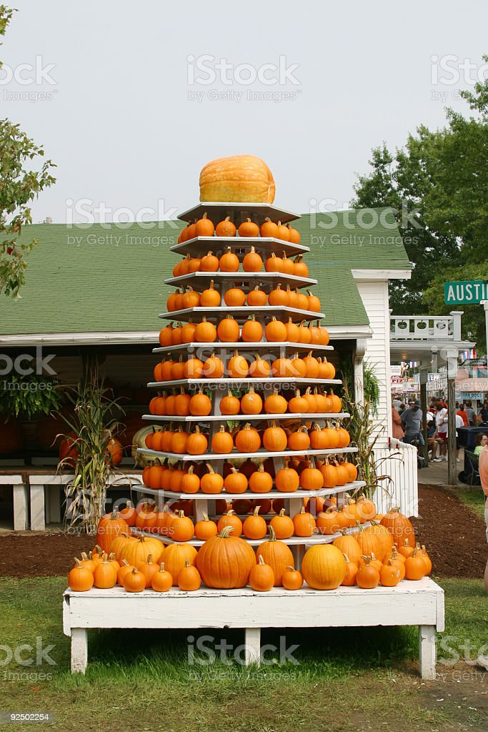 Pumpkin Display stock photo