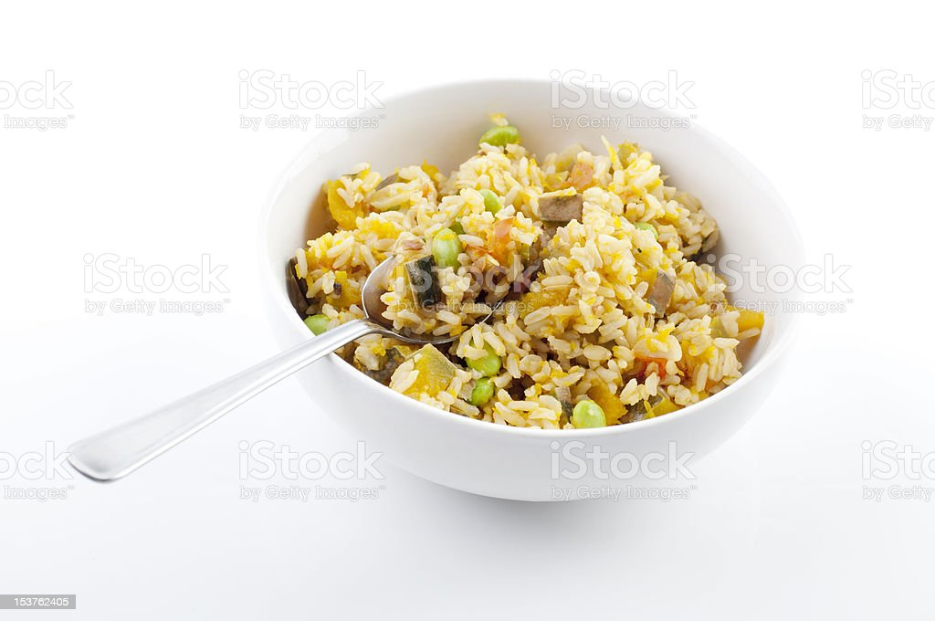 Pumpkin fried rice royalty-free stock photo