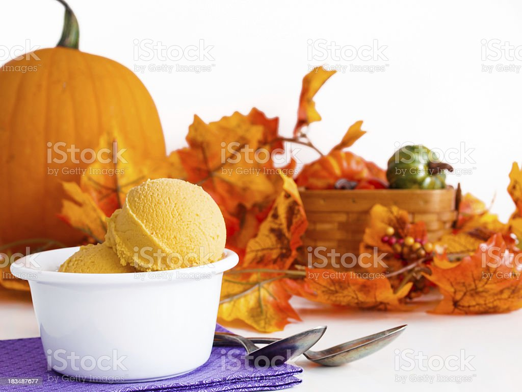 Pumpkin Gelato stock photo