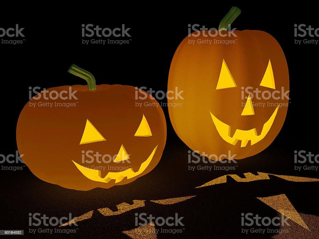 Pumpkin Glow (3D) royalty-free stock photo