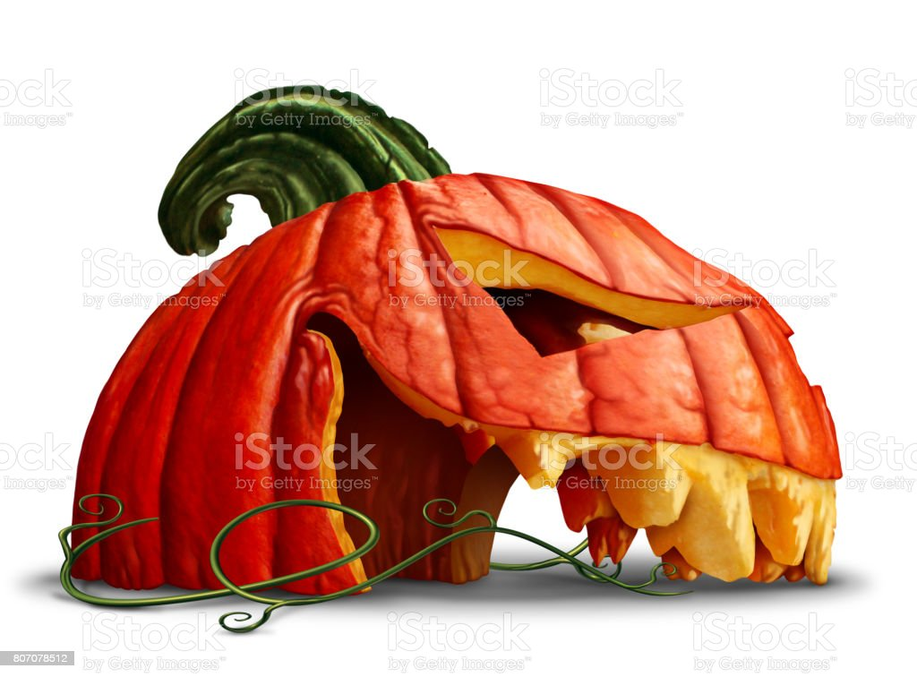 Pumpkin Halloween Head stock photo