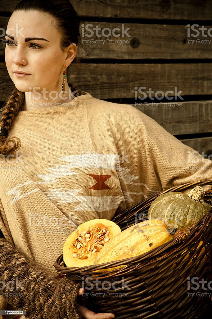 Pumpkin Harvest... royalty-free stock photo