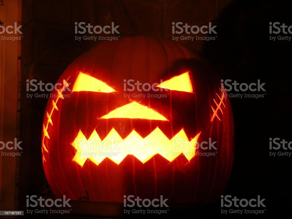 Pumpkin Head royalty-free stock photo