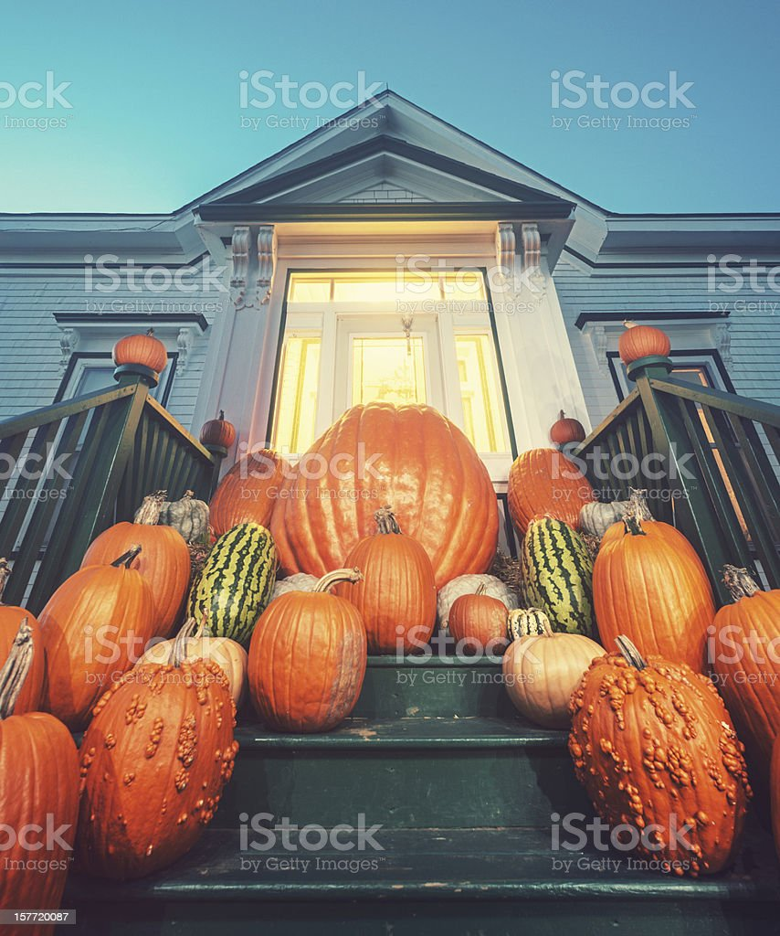 Pumpkin Home royalty-free stock photo