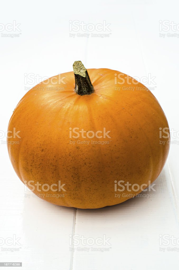Pumpkin isolated on white royalty-free stock photo