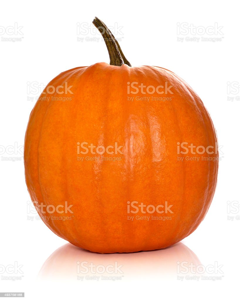 Pumpkin isolated on white stock photo