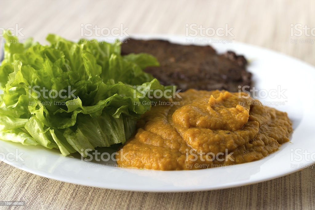 Pumpkin mashed mix royalty-free stock photo