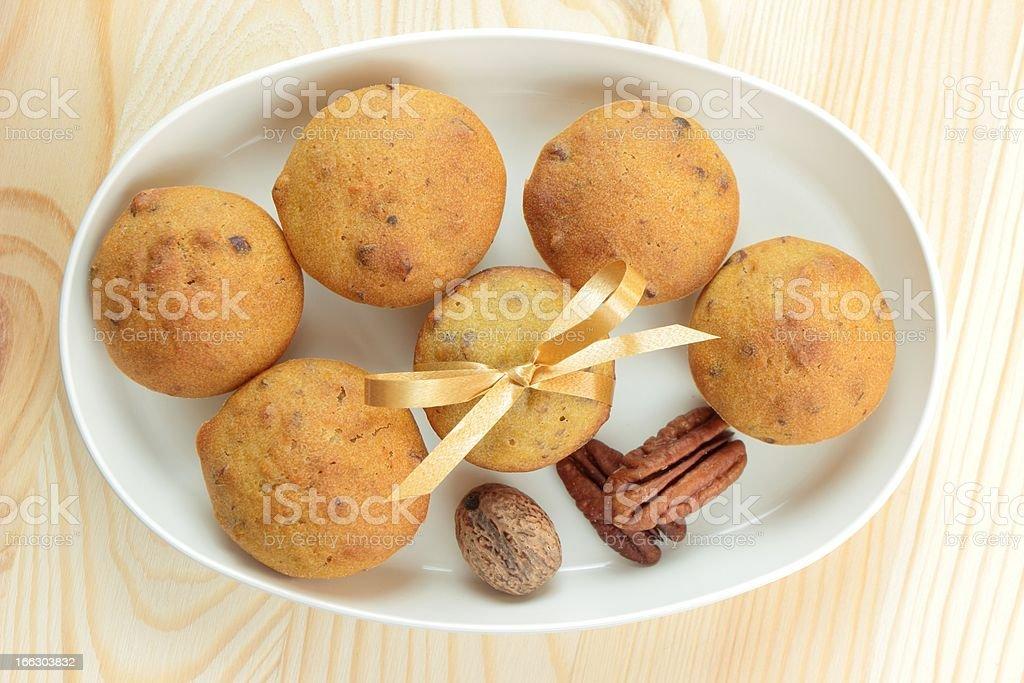 pumpkin nut muffins royalty-free stock photo