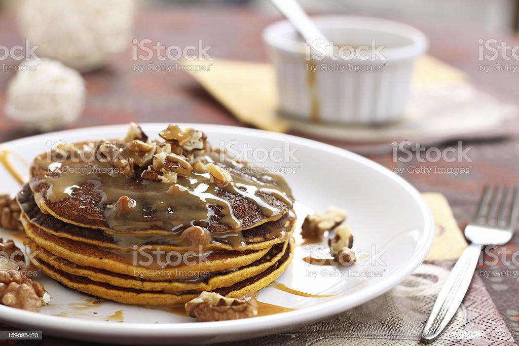 Pumpkin pancakes royalty-free stock photo