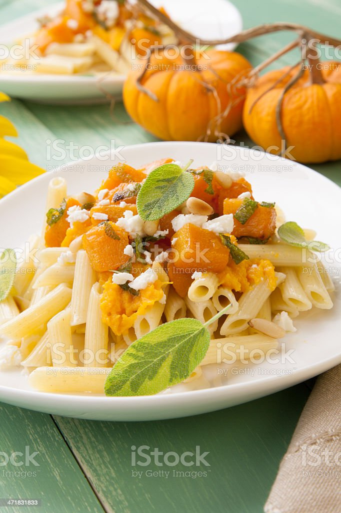 Pumpkin Pasta royalty-free stock photo