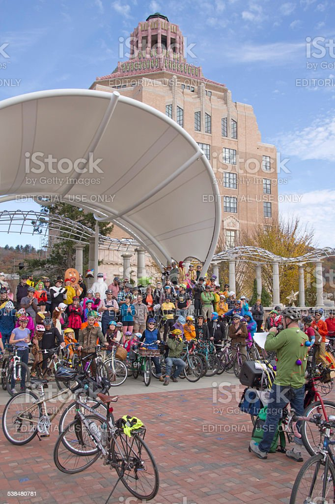 Pumpkin Pedalers Pre Race Gathering stock photo