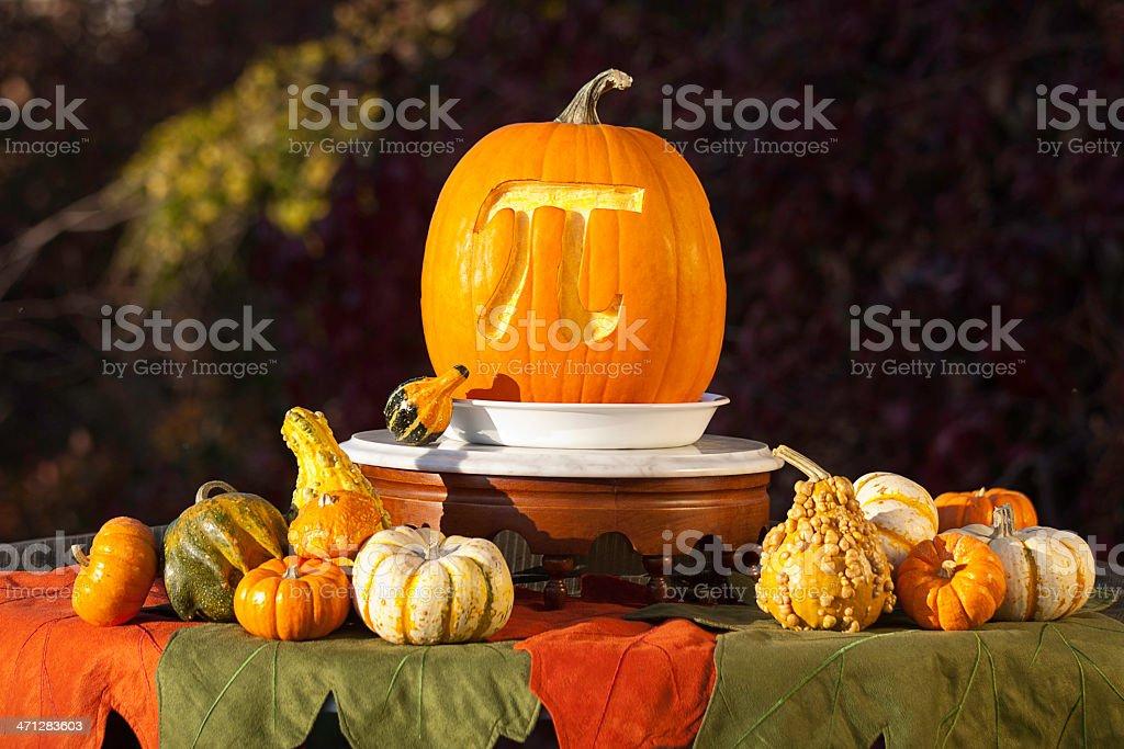 Pumpkin Pi Display stock photo
