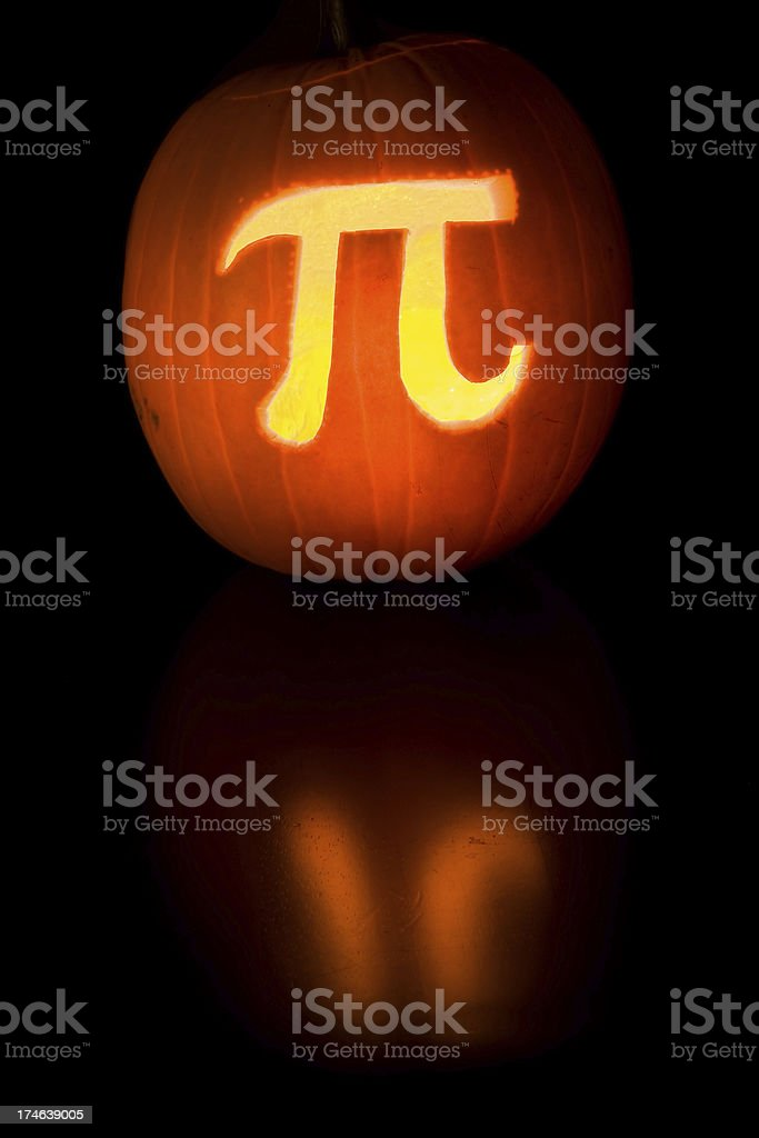 Pumpkin Pi royalty-free stock photo