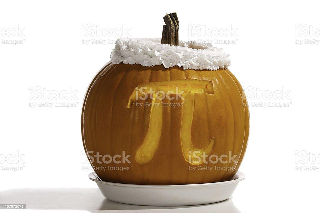 Pumpkin Pi plus Whipped Cream-- Formula for Dessert royalty-free stock photo