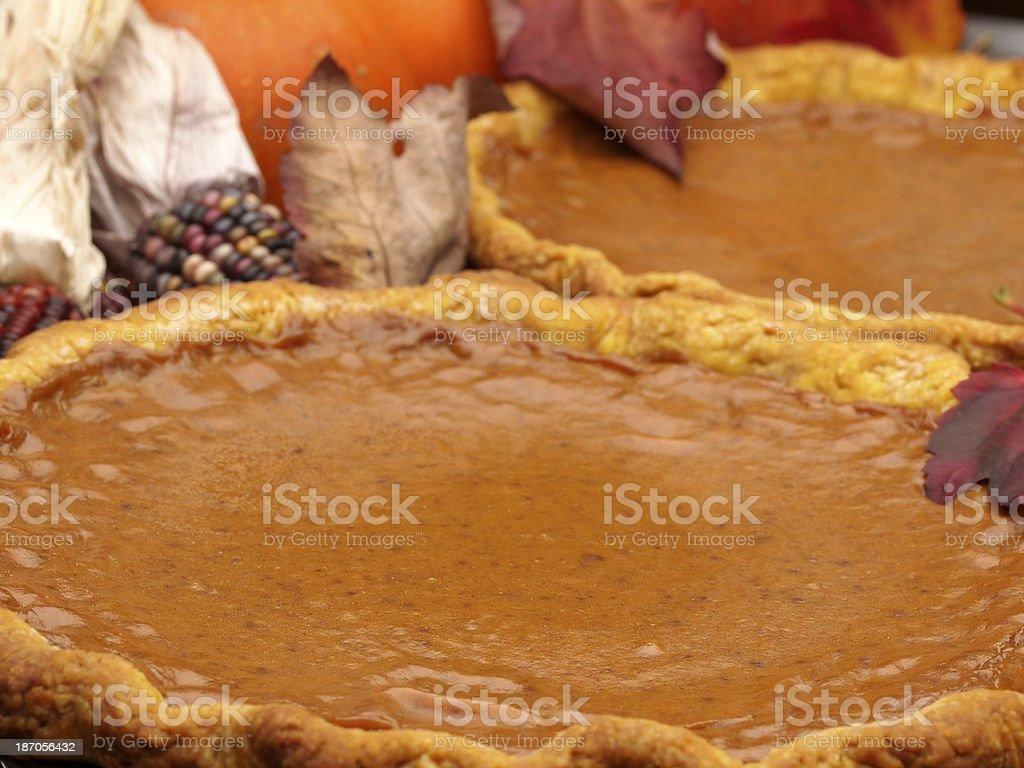 Pumpkin Pie - Fall Baking stock photo