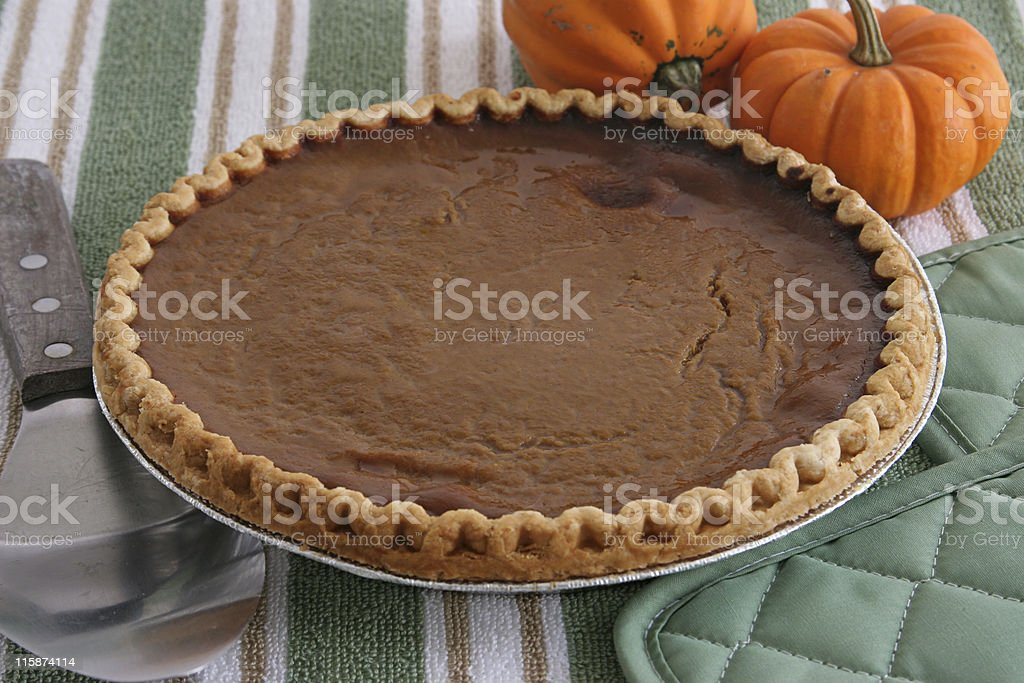 Pumpkin Pie - Fresh From Oven stock photo
