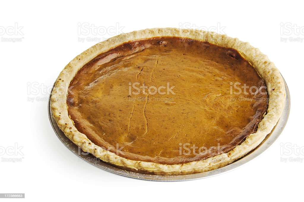Pumpkin Pie Isolated on White royalty-free stock photo