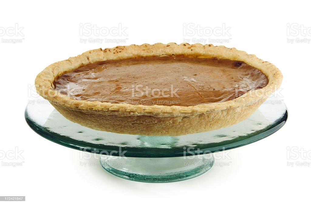 Pumpkin Pie Isolated royalty-free stock photo