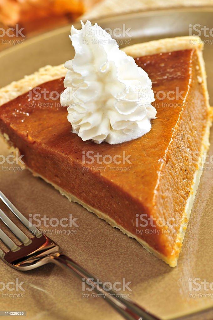 Pumpkin pie royalty-free stock photo