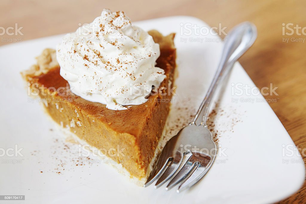 Pumpkin Pie Slice stock photo