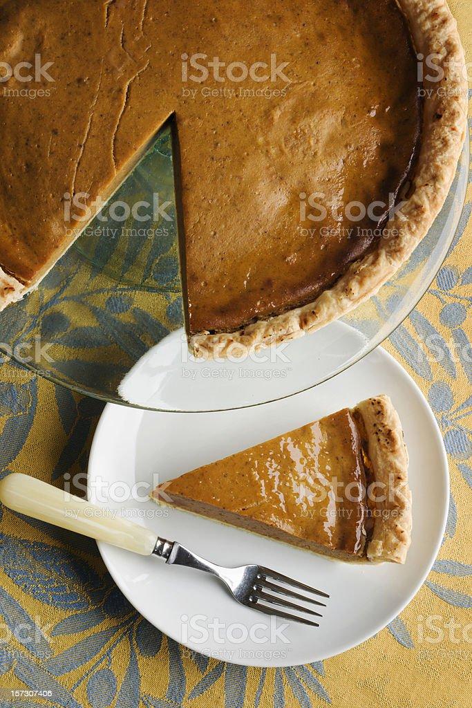 Pumpkin Pie Slice Vt royalty-free stock photo