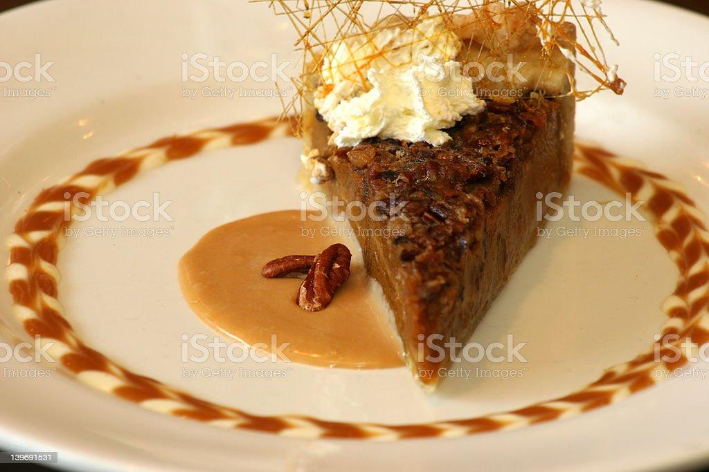 Pumpkin Pie with Pecan Glaze royalty-free stock photo