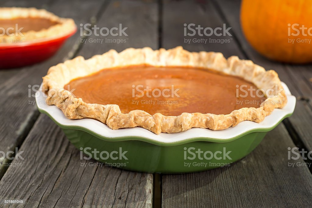 Pumpkin pies stock photo