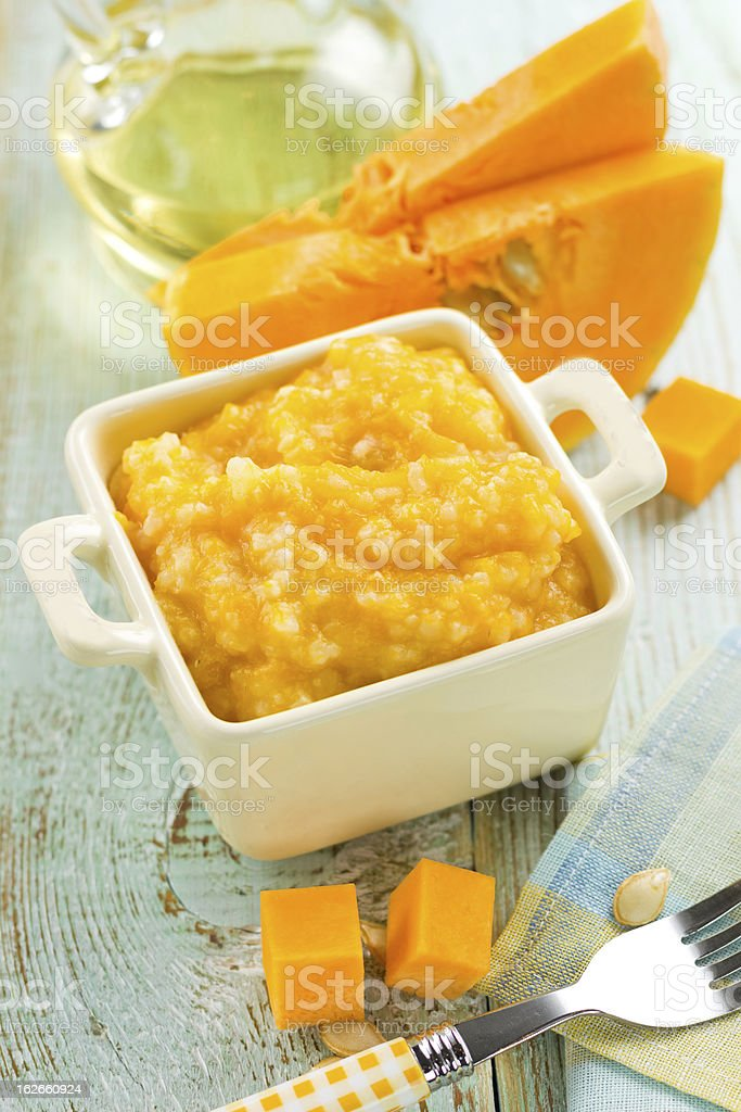 Pumpkin porridge royalty-free stock photo