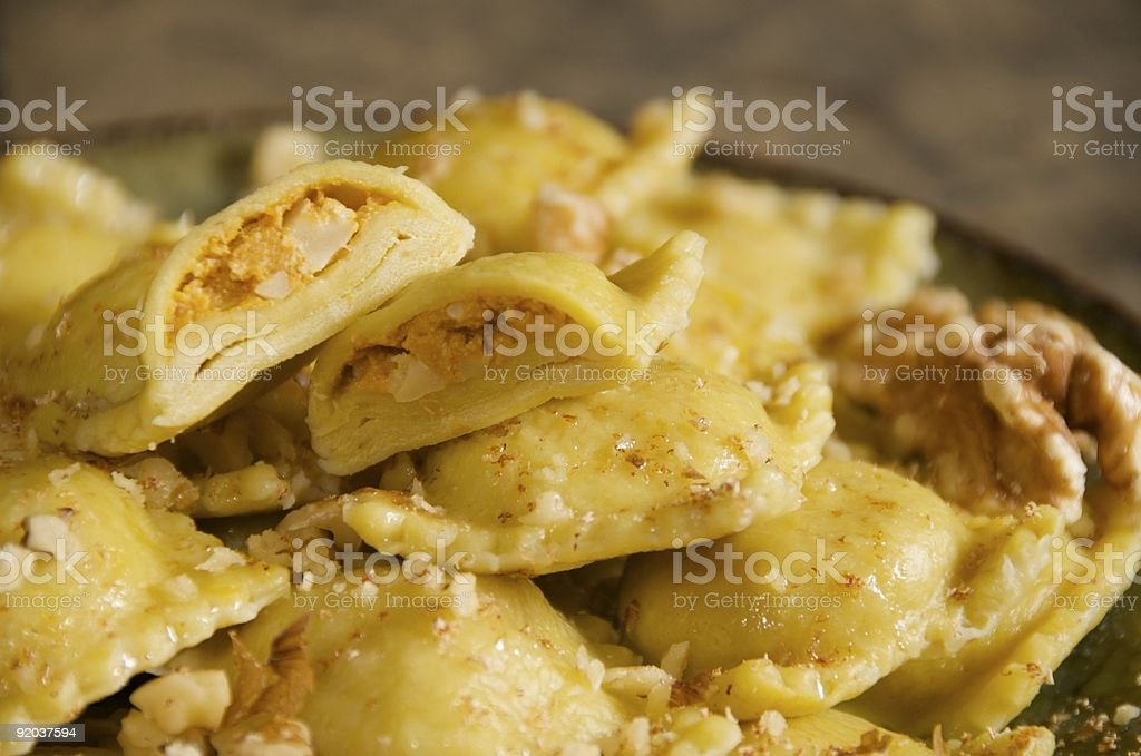 Pumpkin Ravioli royalty-free stock photo