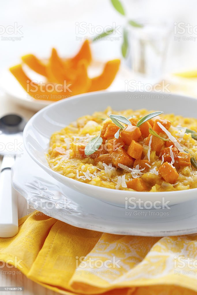pumpkin risotto royalty-free stock photo