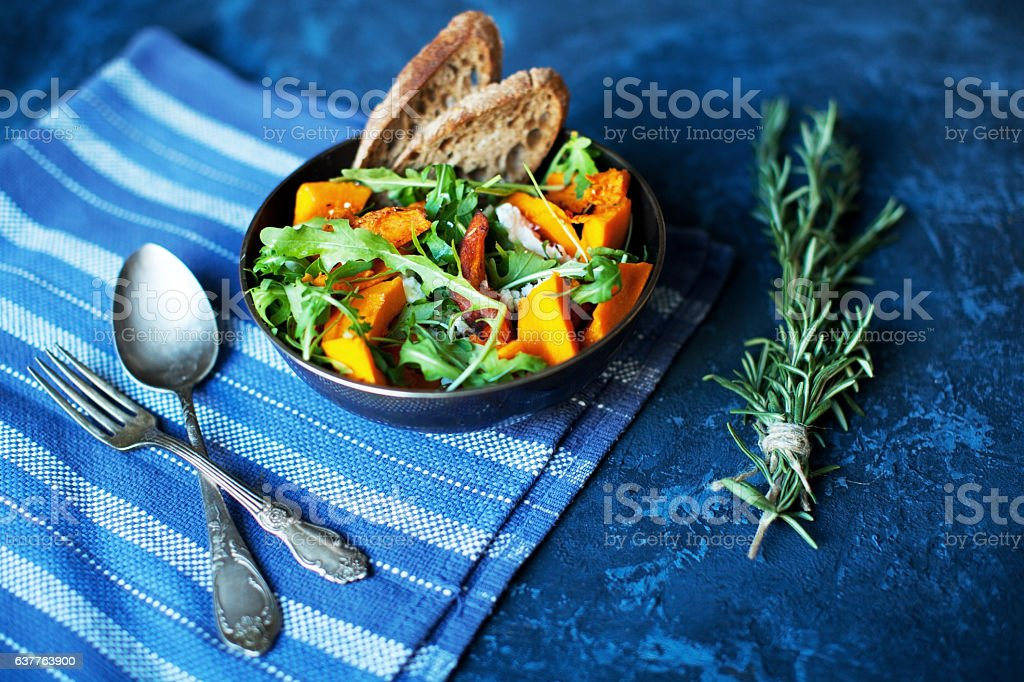 Pumpkin salad stock photo
