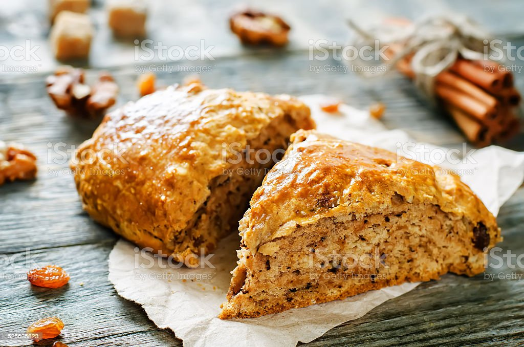 pumpkin scones stock photo