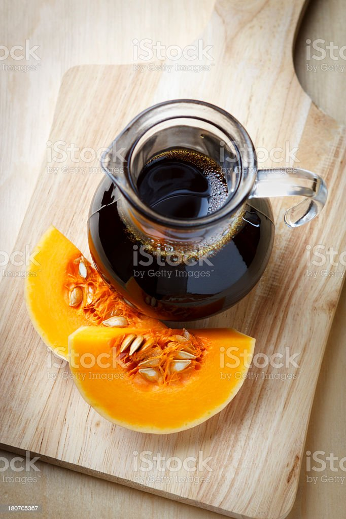 pumpkin seed oil royalty-free stock photo