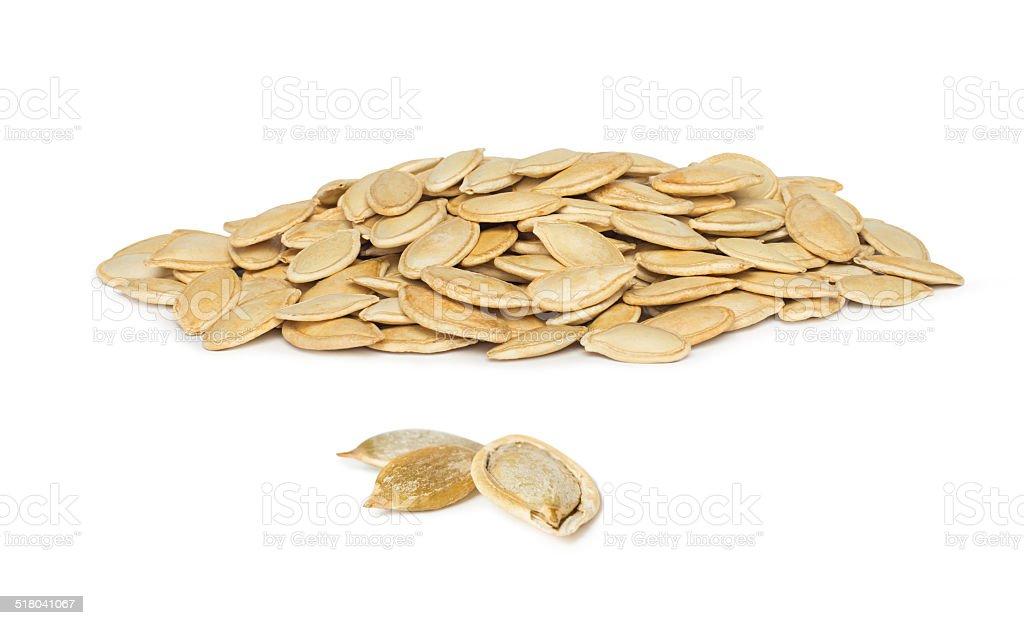 Pumpkin Seeds (Pepitas) Isolated stock photo