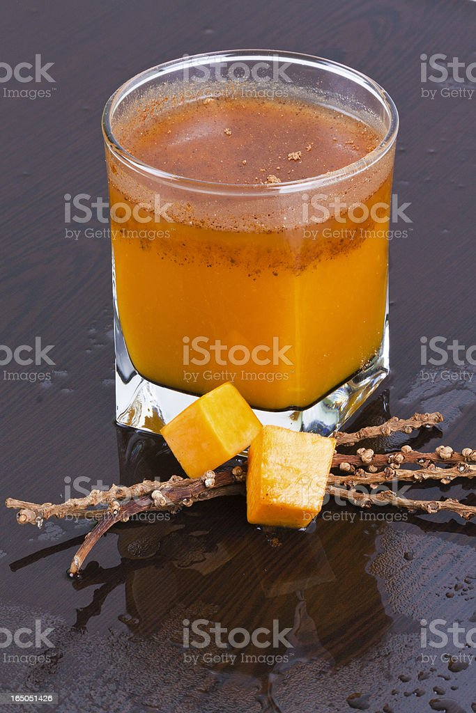 Pumpkin Smoothie royalty-free stock photo
