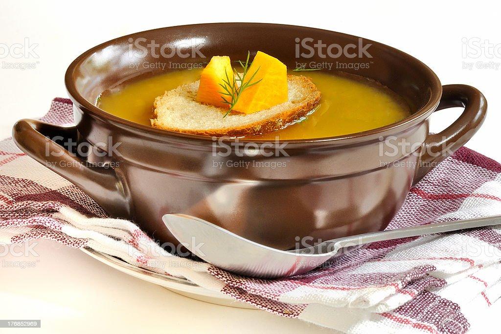 Sopa de abóbora foto royalty-free