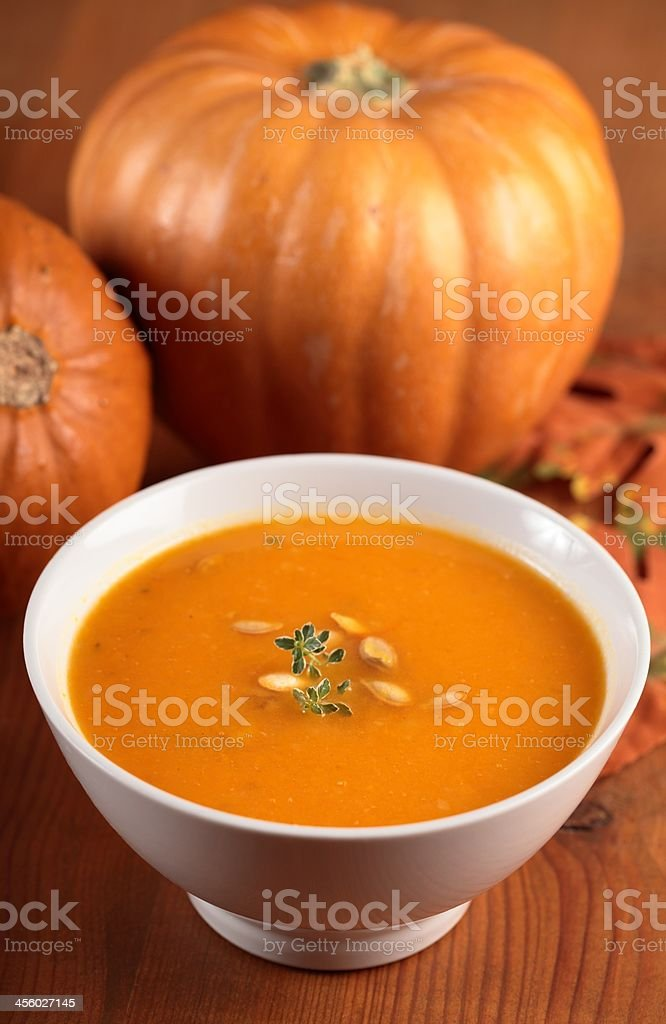 Pumpkin soup royalty-free stock photo