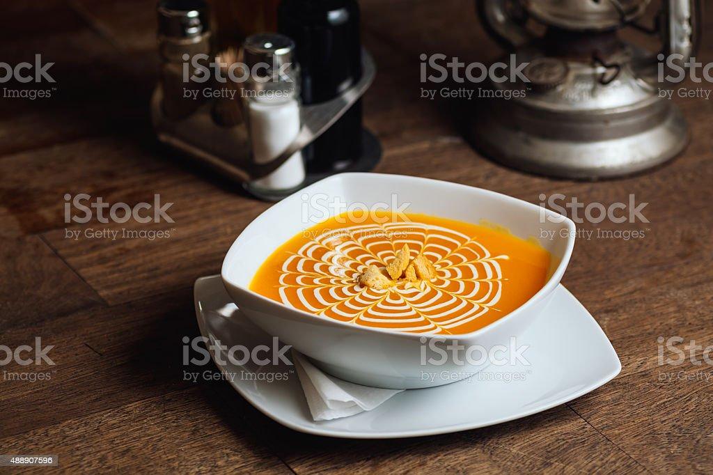 Pumpkin soup royalty-free stock photo