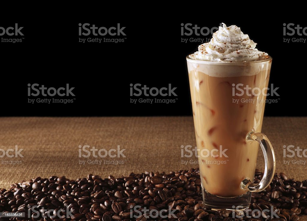 Pumpkin Spice Latte on Black stock photo